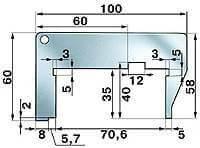 Шаблон для регулировки уровня топлива в поплавковой камере