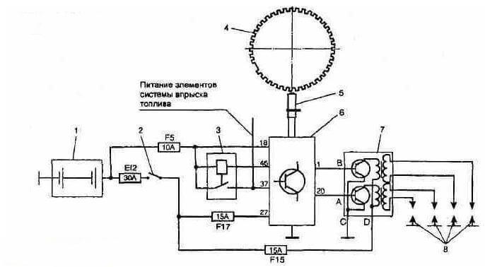 100 - Схема подключения модуля зажигания ваз 2110