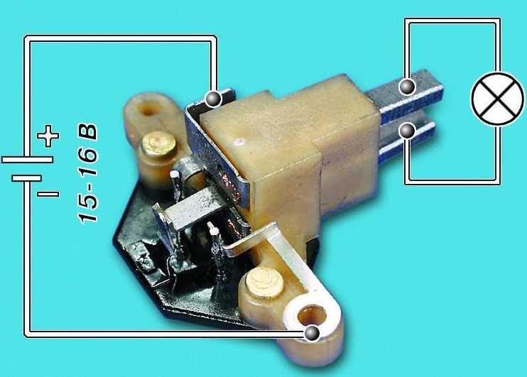 Проверка и замена щеткодержателя и конденсатора генератора 2110