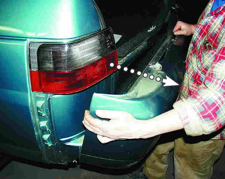Задний буфер(бампер) ВАЗ-2110, 21102, 21104